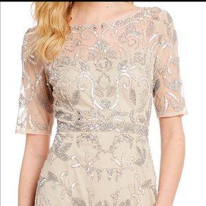 Adrianna Papell Beaded Mesh Dress